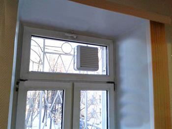Стеклопакет с отверстием под вентилятор