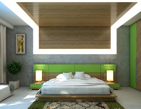 Вариант освещения в спальне