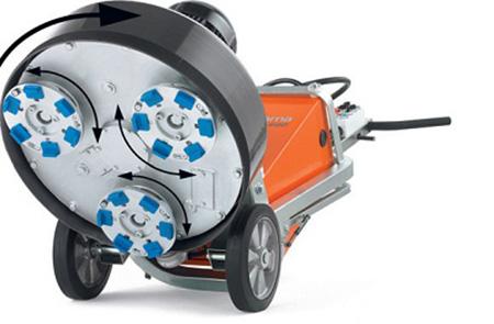 Машина для профессиональной шлифовки бетона