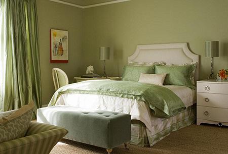Пастельные цвета в спальне