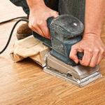 Шлифовка деревянных полов: инструмент и ход работ