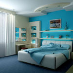 Бирюзовый цвет в интерьере спальни: гармония и свежесть