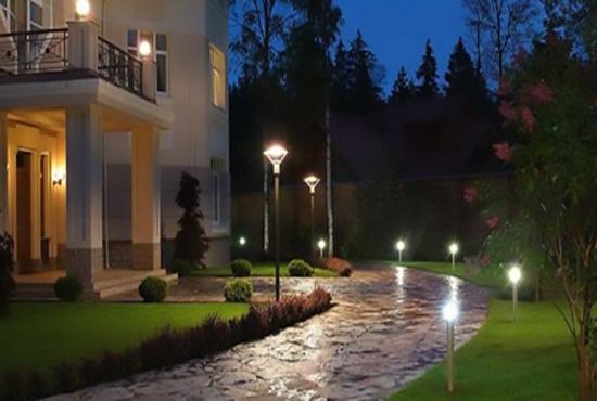 Светодиодные светильники на столбах