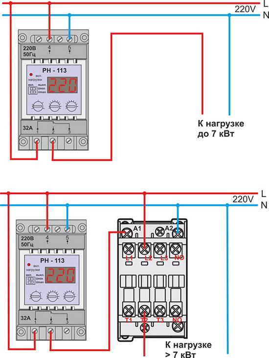 Контроль напряжения в сети 220в