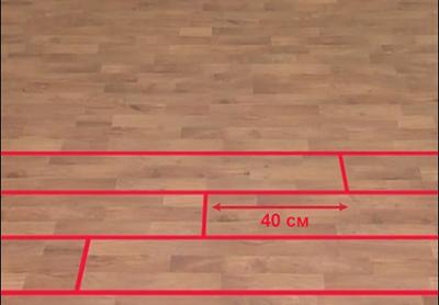 Расстояние между стыками досок