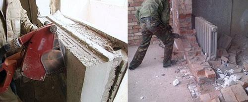 Снос перегородки между балконом и комнатой