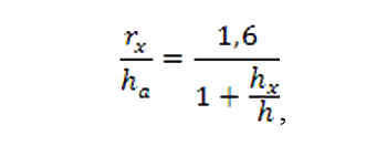 Формула расчета стержневой защиты