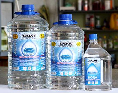 Теплоноситель - дистиллированная вода